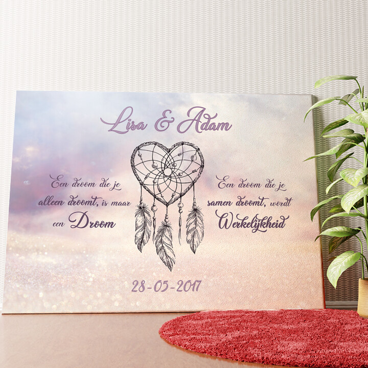 Gepersonaliseerde muurschildering Dromerige Liefde