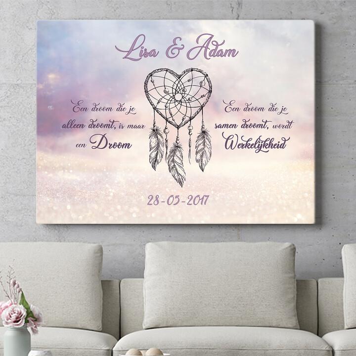 Personaliseerbaar cadeau Dromerige Liefde