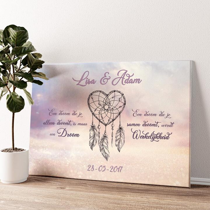 Dromerige Liefde Gepersonaliseerde muurschildering
