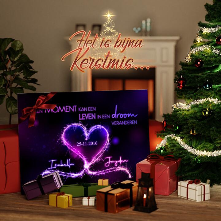 Canvas Cadeau Knetterende harten