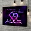 Gepersonaliseerde canvas print Knetterende harten