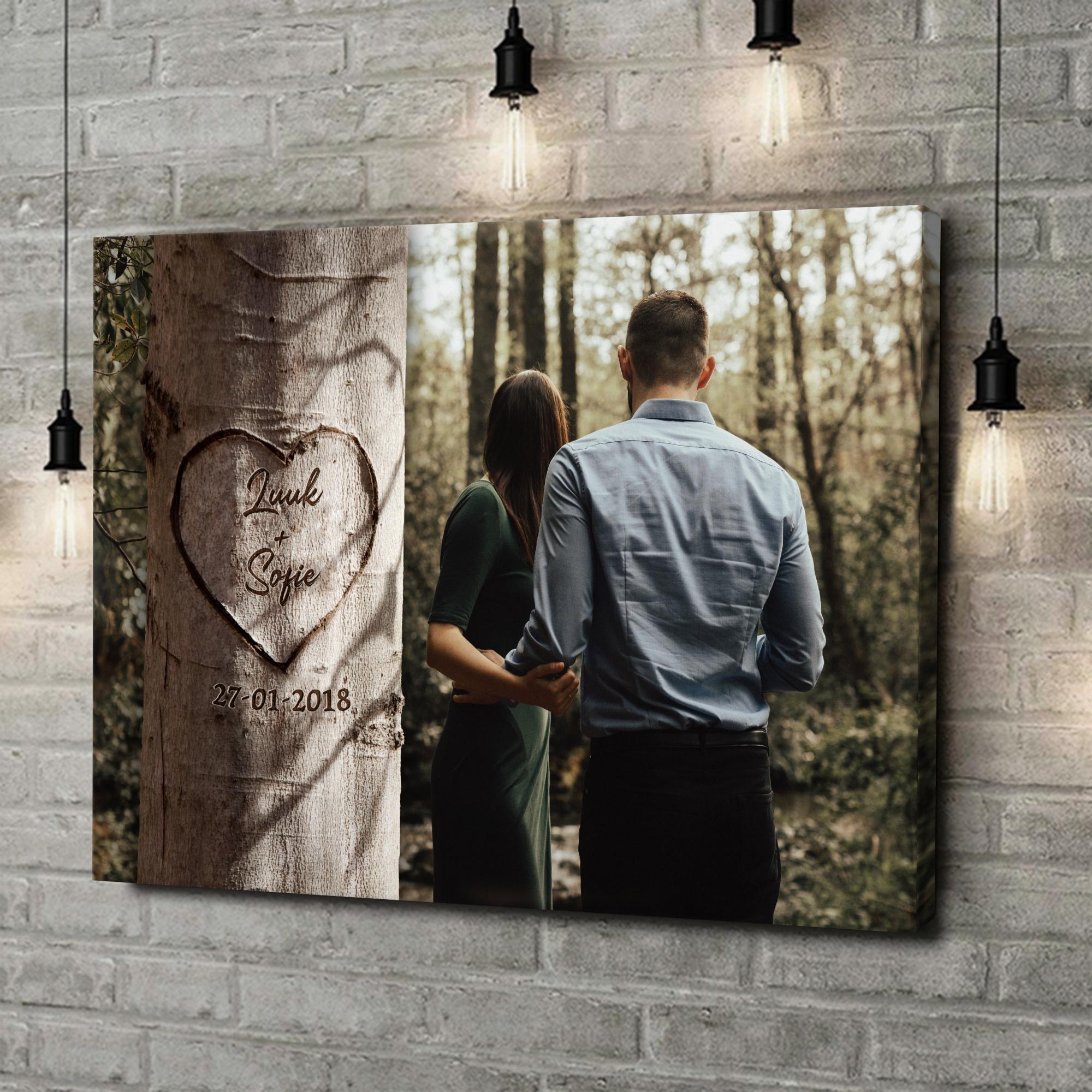 Gepersonaliseerde canvas print Hartenboom
