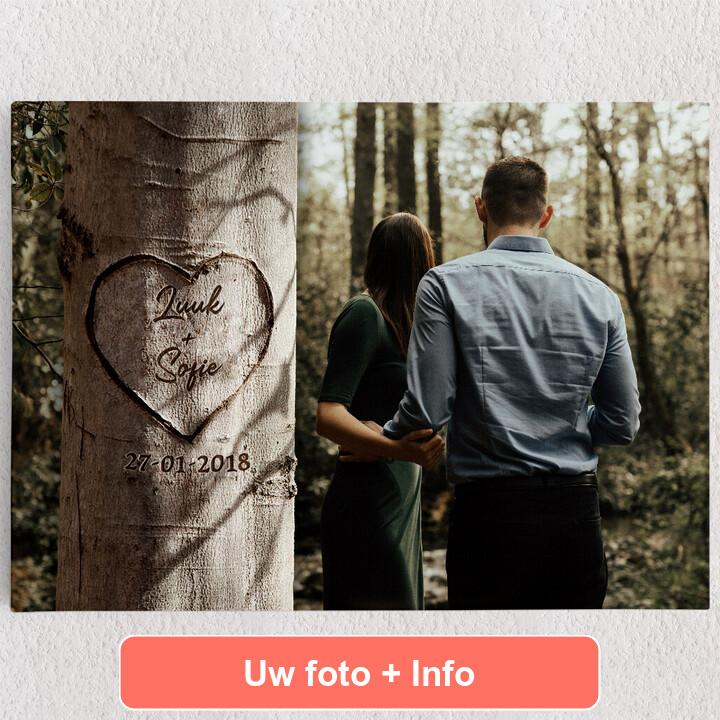 Gepersonaliseerde Canvas Hartenboom