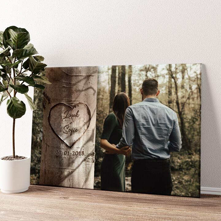 Hartenboom Gepersonaliseerde muurschildering