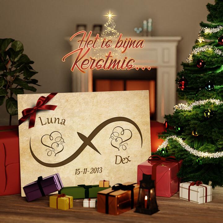 Canvas Cadeau Innige Liefde