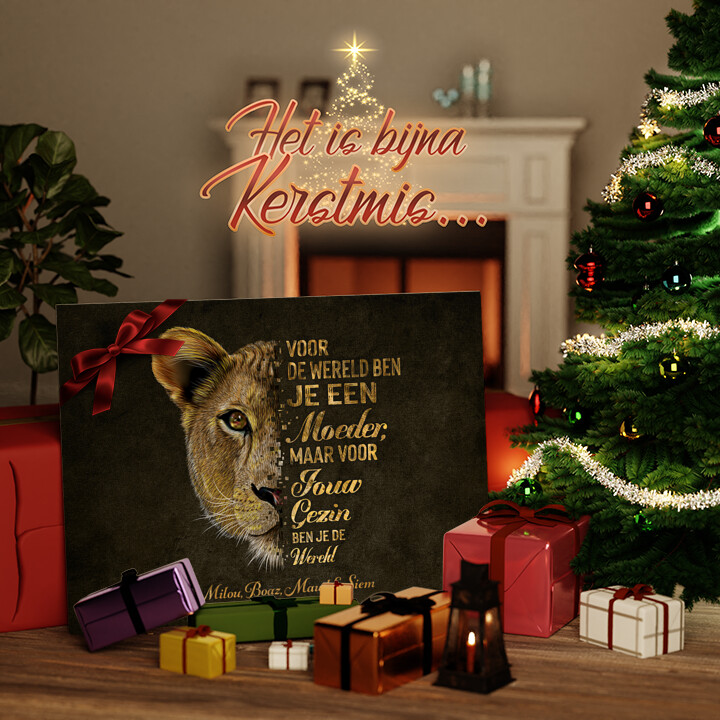 Canvas Cadeau Beschermster van het gezin