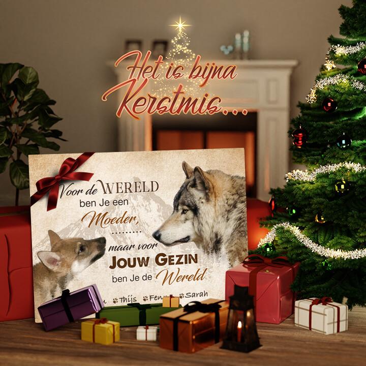 Canvas Cadeau Wolfsmoeder