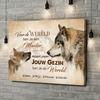 Gepersonaliseerde canvas print Wolfsmoeder