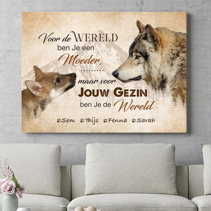 Personaliseerbaar cadeau Wolfsmoeder