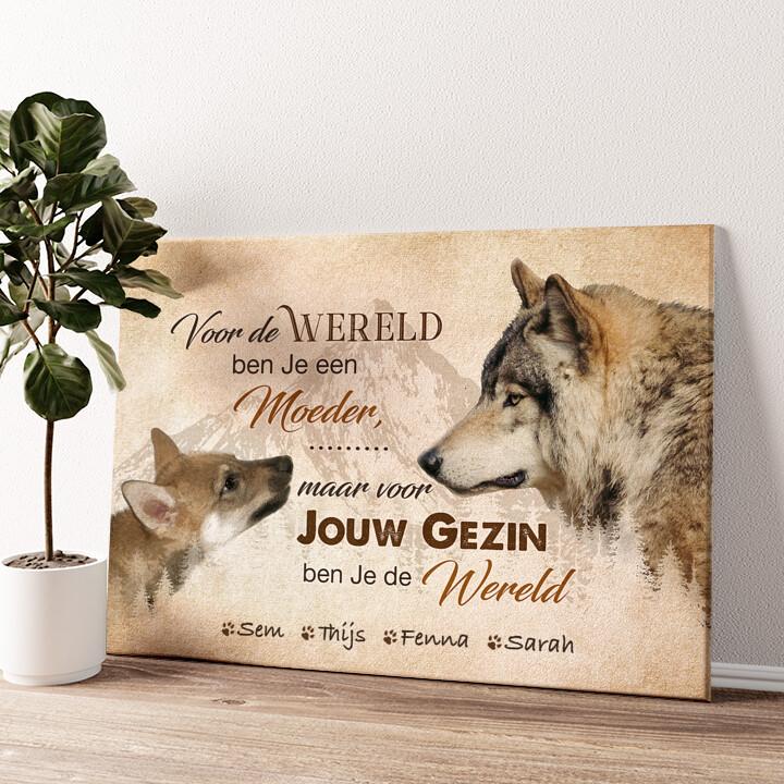 Wolfsmoeder Gepersonaliseerde muurschildering