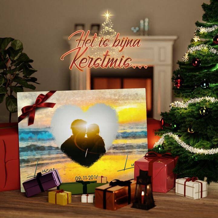 Canvas Cadeau Romantische zonsondergang