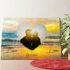 Gepersonaliseerde muurschildering Romantische zonsondergang