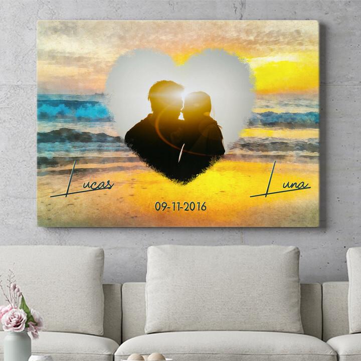 Personaliseerbaar cadeau Romantische zonsondergang