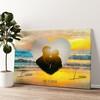 Romantische zonsondergang Gepersonaliseerde muurschildering