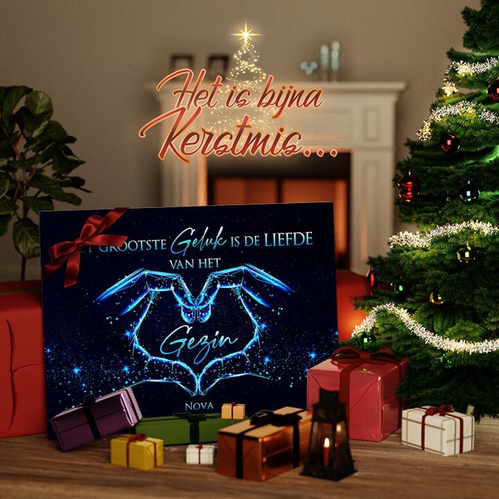 Canvas Cadeau Familiegeluk