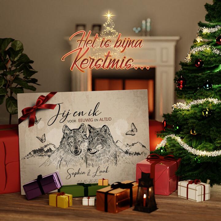 Canvas Cadeau Wolvenromantiek