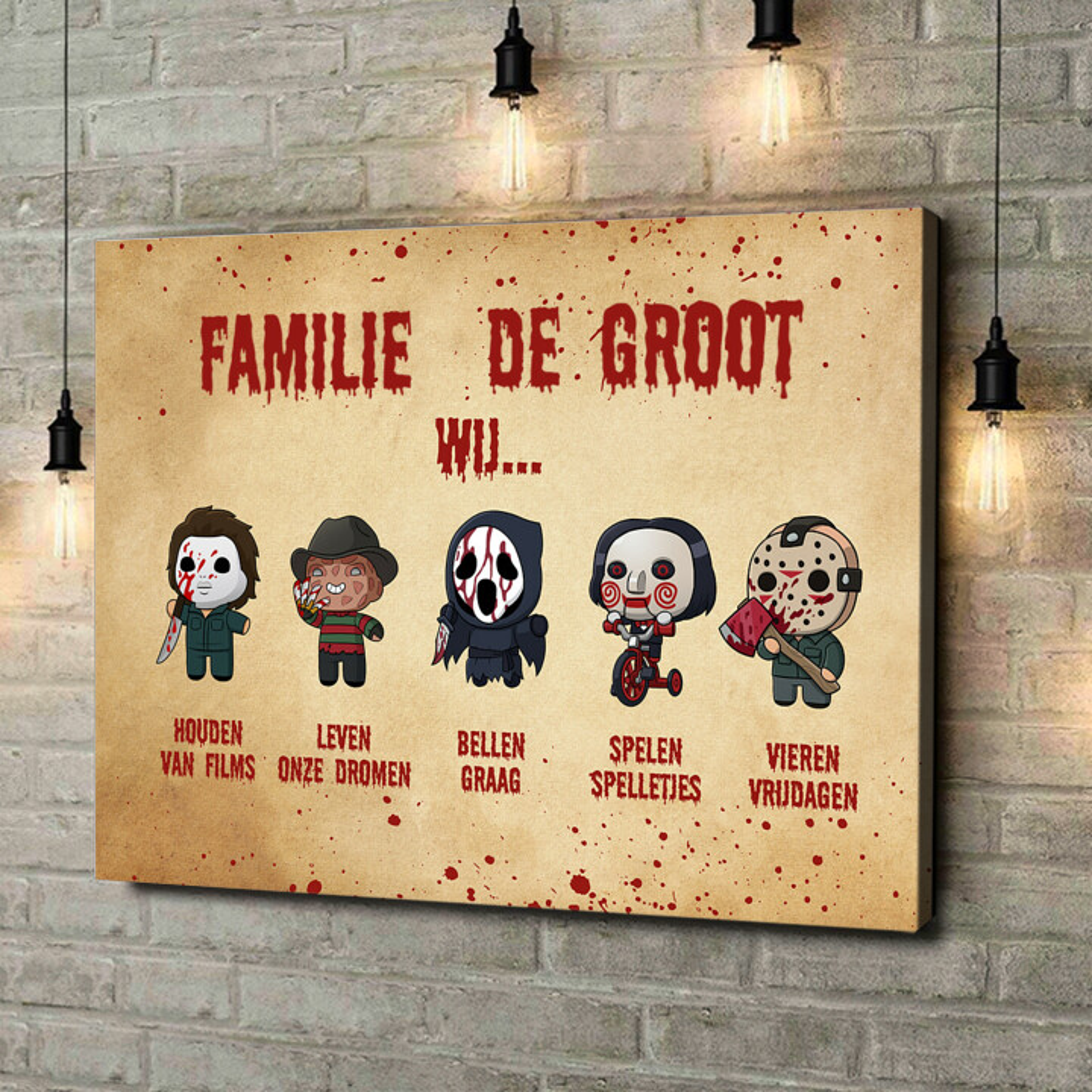 Gepersonaliseerde canvas print Familiegevoel