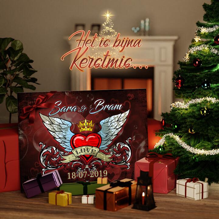 Canvas Cadeau Inspirerende liefde