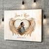 Gepersonaliseerde canvas print Vleugels van liefde
