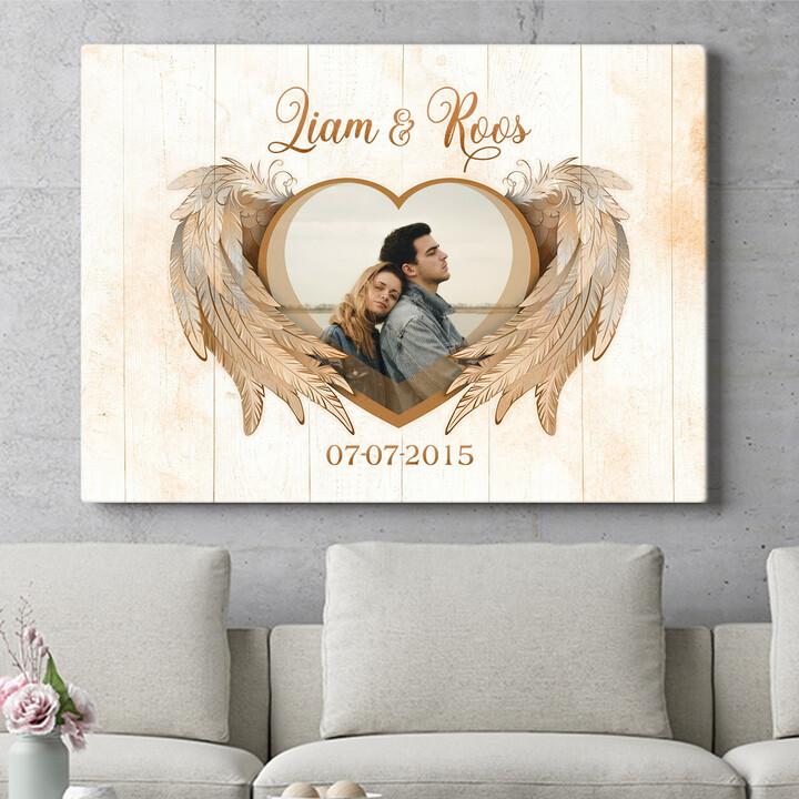 Personaliseerbaar cadeau Vleugels van liefde
