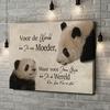Gepersonaliseerde canvas print Moeder Panda