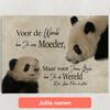 Gepersonaliseerde Canvas Moeder Panda