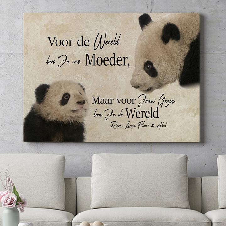 Personaliseerbaar cadeau Moeder Panda