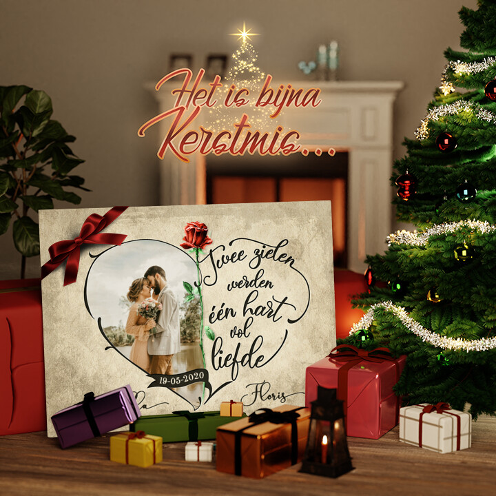 Canvas Cadeau Hart Vol Liefde