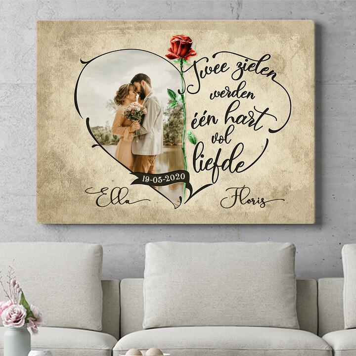 Personaliseerbaar cadeau Hart Vol Liefde
