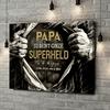 Gepersonaliseerde canvas print Superheld