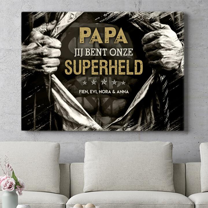 Personaliseerbaar cadeau Superheld