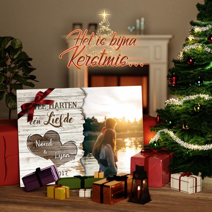 Canvas Cadeau Samengesmolten Harten