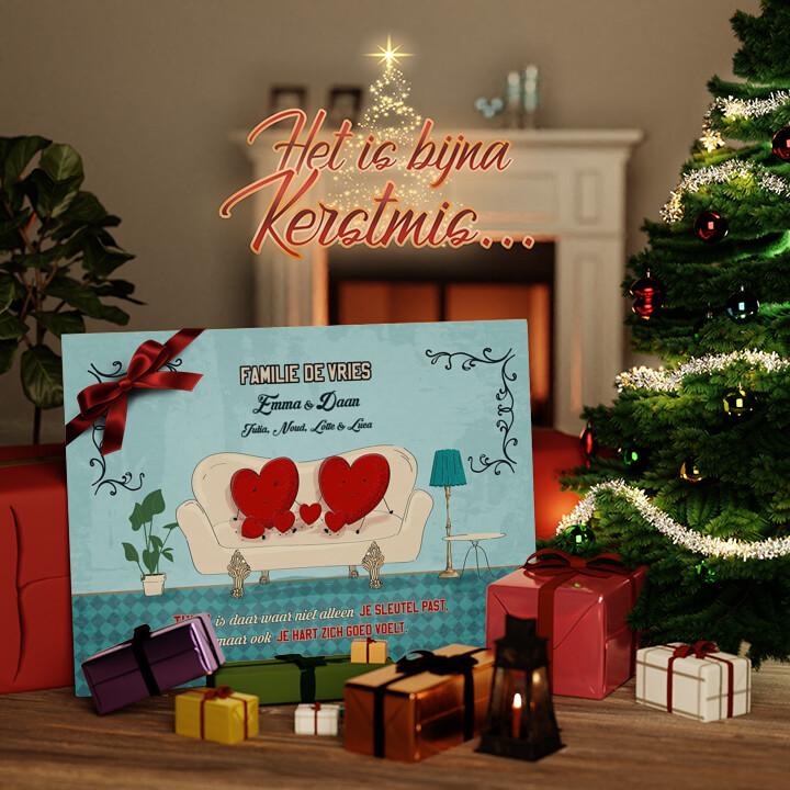 Canvas Cadeau Een thuis met een hart