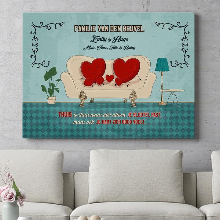 Personaliseerbaar cadeau Een thuis met een hart