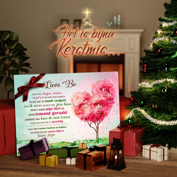 Canvas Cadeau Geraakt hart