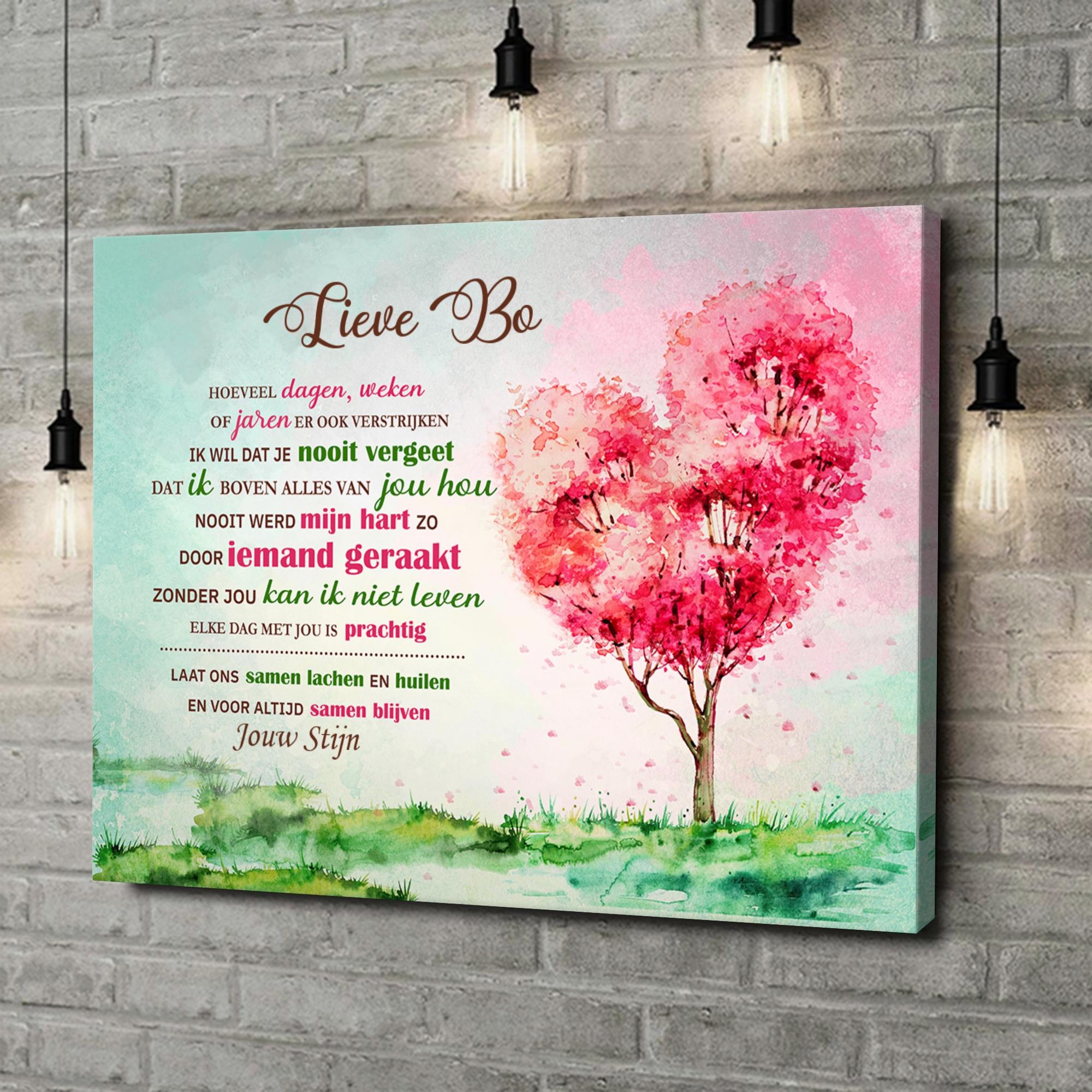 Gepersonaliseerde canvas print Geraakt hart