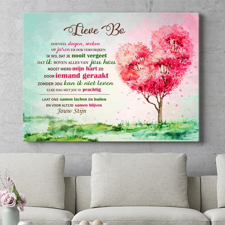 Personaliseerbaar cadeau Geraakt hart