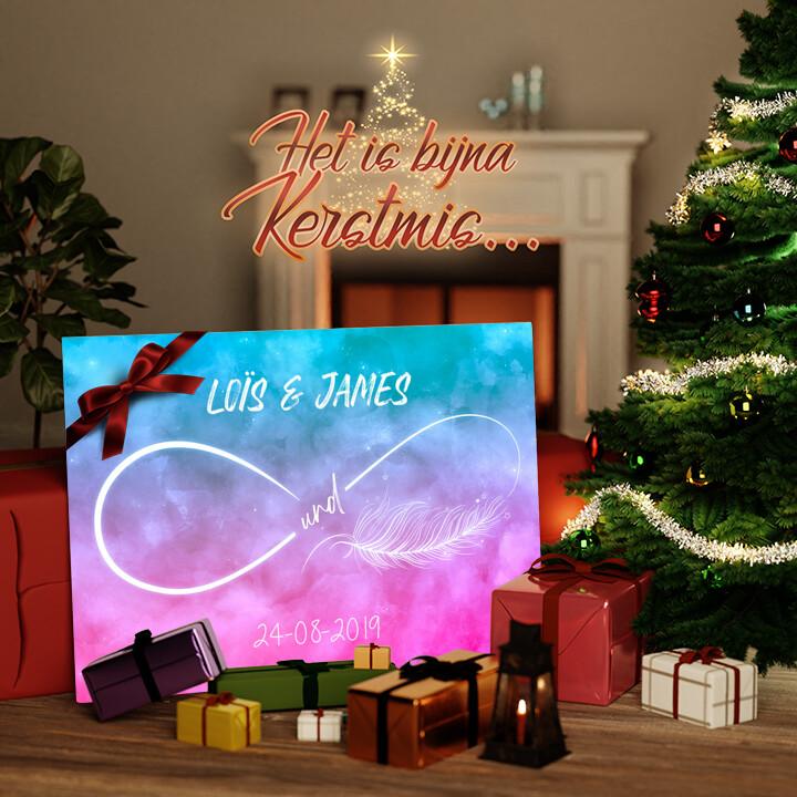Canvas Cadeau Liefde zo licht als een veertje