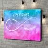 Gepersonaliseerde canvas print Liefde zo licht als een veertje