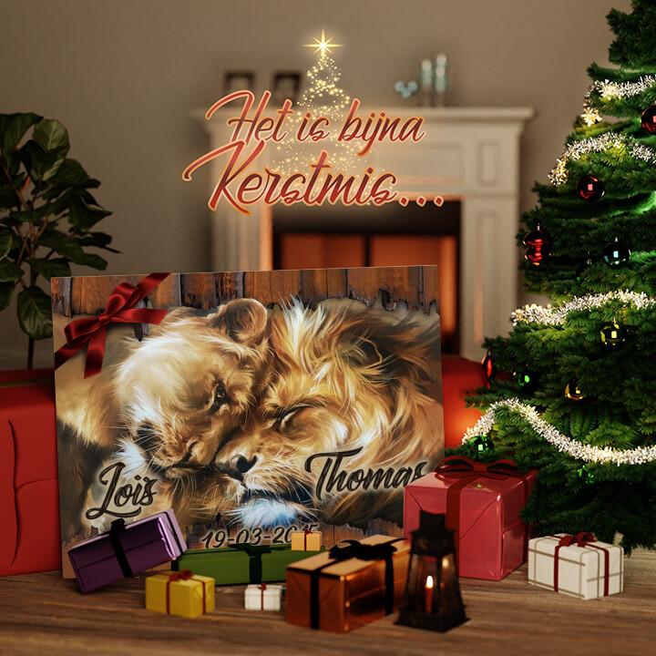 Canvas Cadeau Leeuwenhart