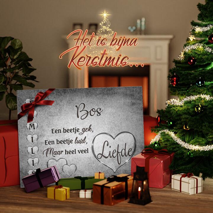 Canvas Cadeau Familieliefde
