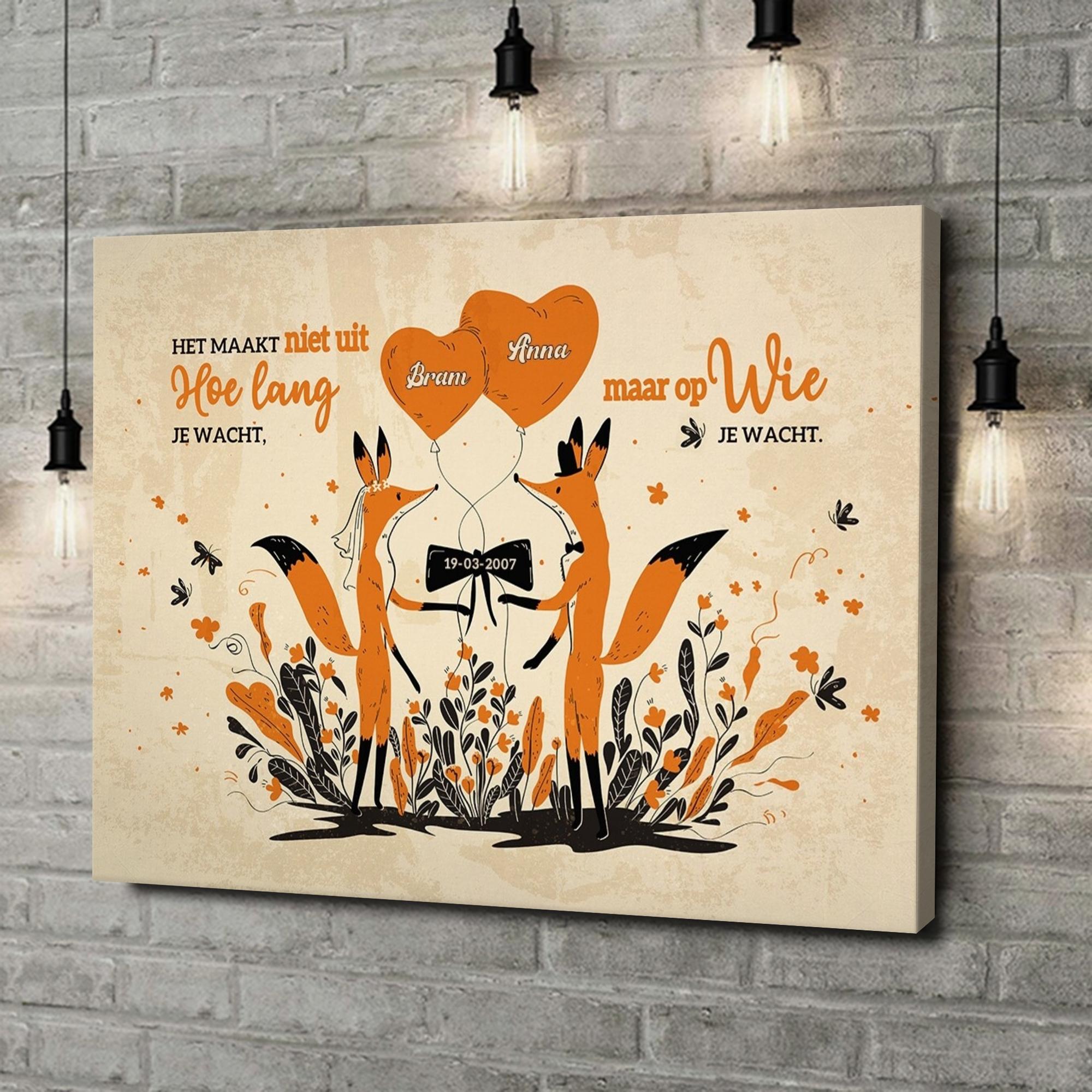 Gepersonaliseerde canvas print Droompartner