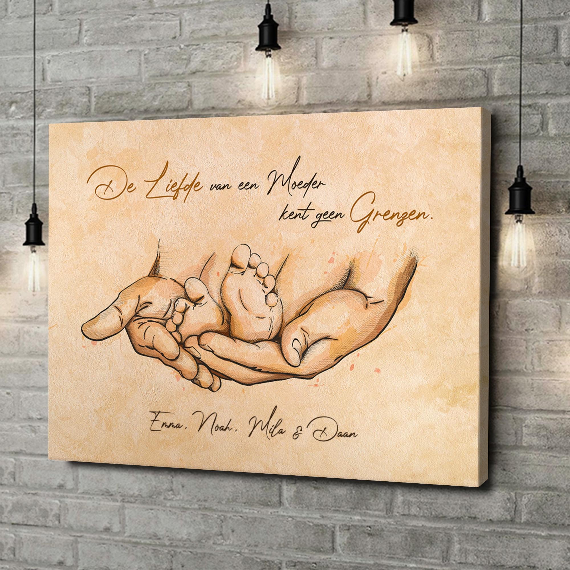 Gepersonaliseerde canvas print Beschermende liefde