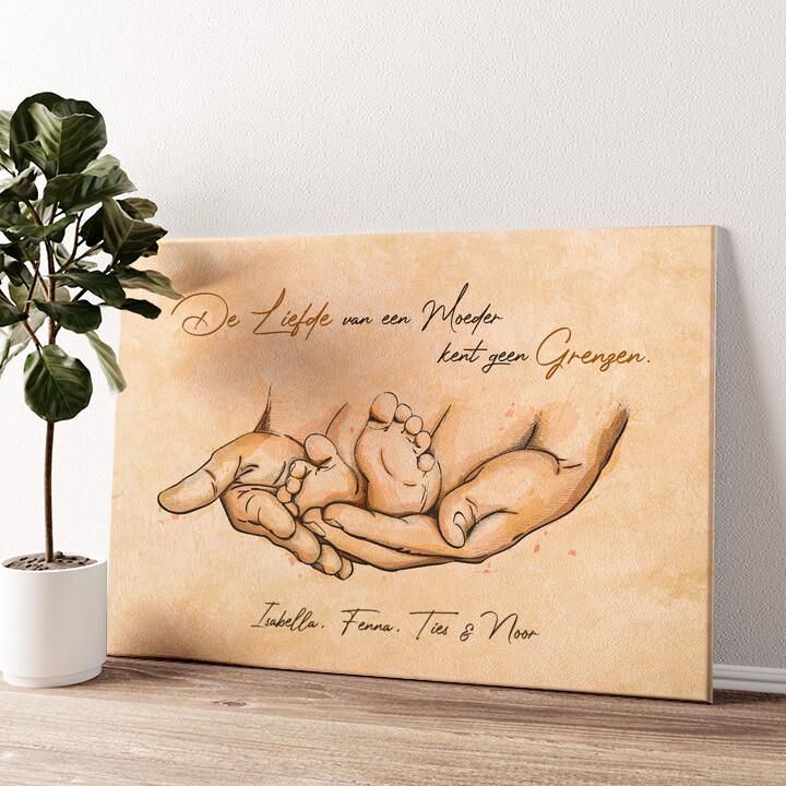 Beschermende liefde Gepersonaliseerde muurschildering