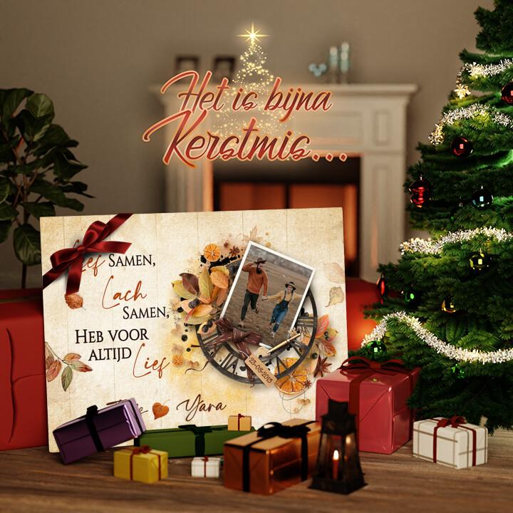 Canvas Cadeau Leven, lachen, liefde