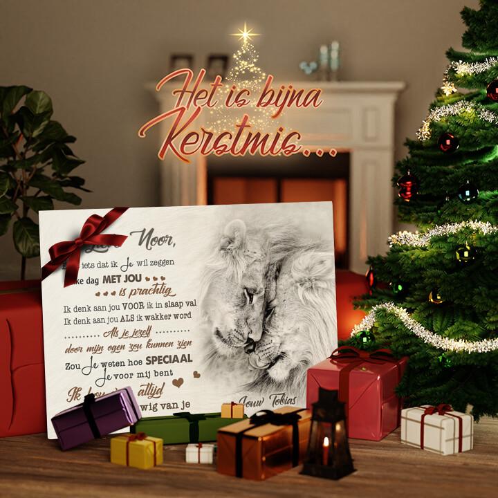 Canvas Cadeau Elke Dag met Jou