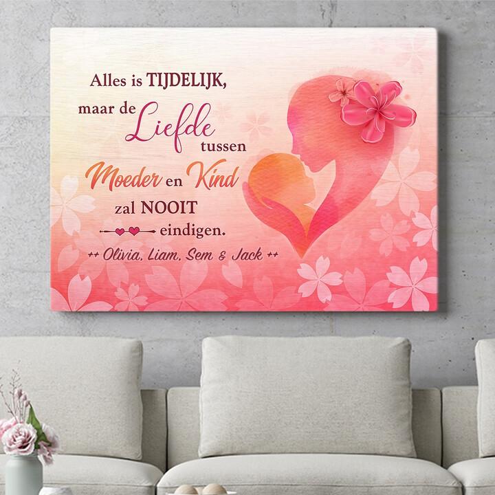 Personaliseerbaar cadeau Moeder & Kind
