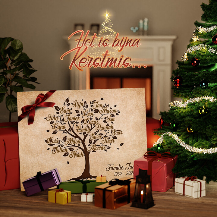 Canvas Cadeau Familieboom