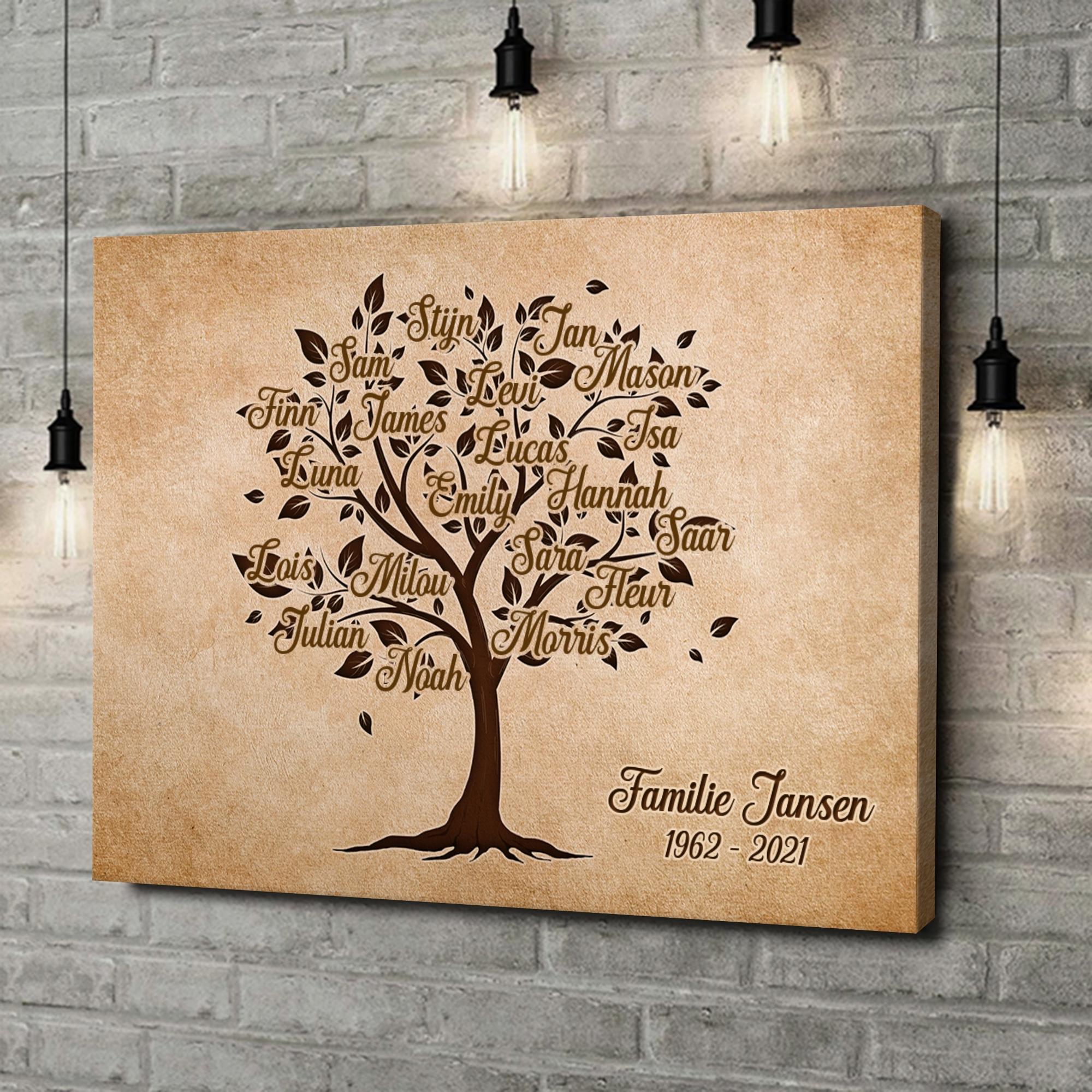 Gepersonaliseerde canvas print Familieboom