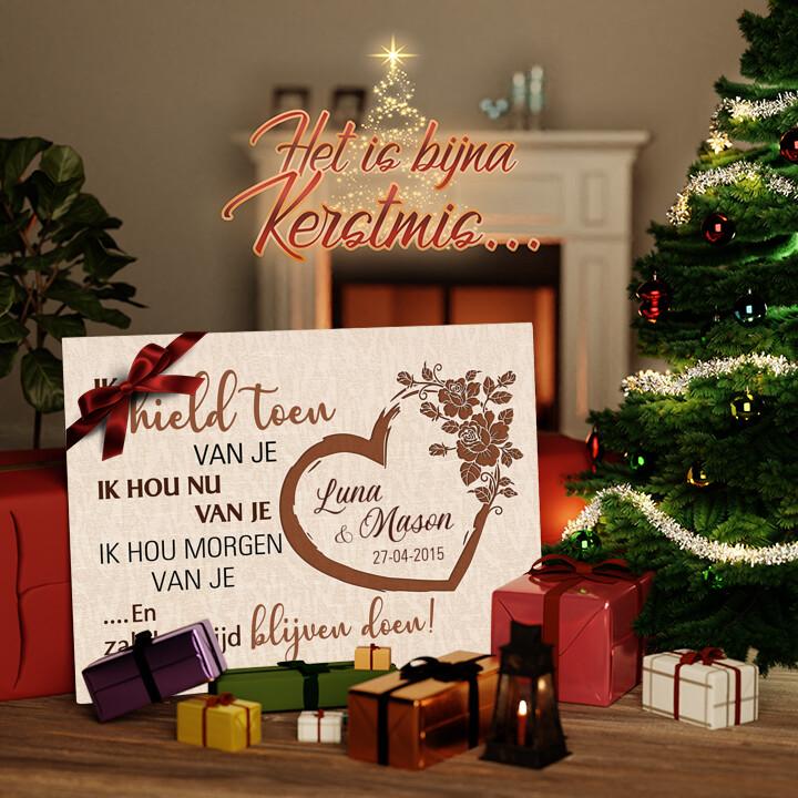 Canvas Cadeau Gisteren, vandaag & morgen